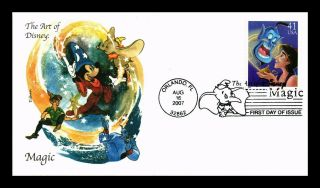 Dr Jim Stamps Us Aladdin Art Of Disney Magic First Day Cover Edken Scott 4195