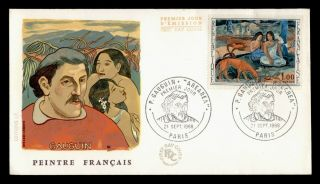 Dr Who 1968 France Paul Gauguin Art Fdc Pictorial Cancel C128383