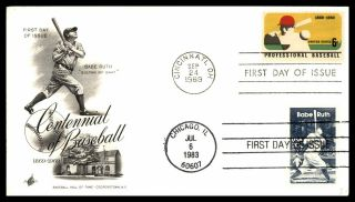 Mayfairstamps 1969 Us Fdc Art Craft Bombo Babe Ruth 1983 Dual Cancels First Day