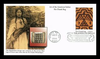 Dr Jim Stamps Us Ho Chunk Bag Art Of American Indian First Day Cover Santa Fe