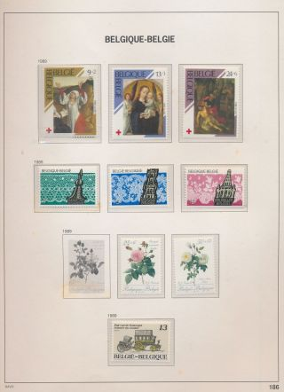 Xb68550 Belgium 1989 Red Cross Art Lace Towers Flowers Mnh Fv 181 Bef