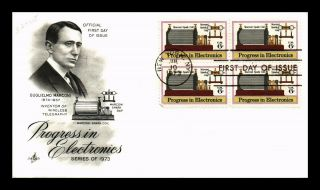 Dr Jim Stamps Us Marconi Progress In Electronics Fdc Art Craft Cover Block