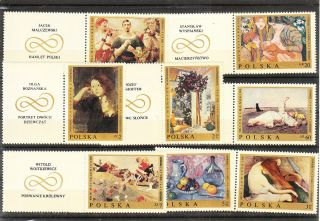 Poland 1969 Painting Set Mnh Vf