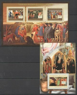 Bc043 2012 Guinea Art Paintings Italian Great Masters Masaccio Kb,  Bl Mnh