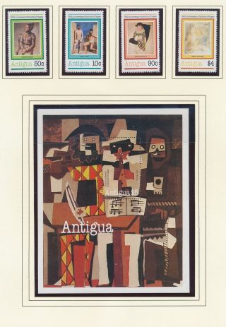 Xb71028 Antigua Picasso Art Paintings Fine Lot Mnh