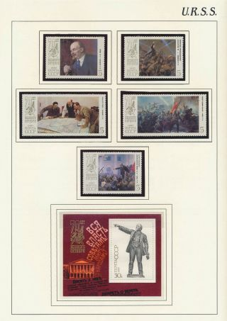 Xb70887 Russia Ussr Lenin October Revolution Art Paintings Fine Lot Mnh