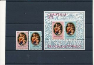 D000294 Paintings Christmas 1973 Religious Art Mnh,  S/s Trinidad & Tobago