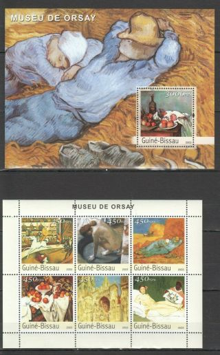 R789 2003 Guinea - Bissau Art Museum Orsay Famous Paintings Bl,  Kb Mnh