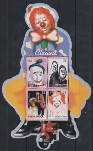 V694.  Palm Island - Mnh - Art - Clowns