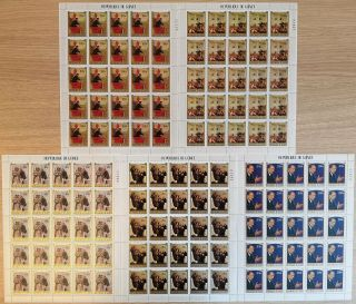 I299.  Guinea - Mnh - Art - Paintings - Full Sheet -