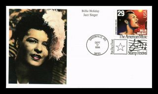 Dr Jim Stamps Us Billie Holiday Jazz Singer First Day Cover Mystic