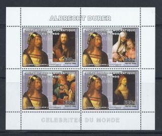 D1242 Nh 2006 Sheet Of 4 Artist Paintings Albrecht Durer Souvenir Sheet