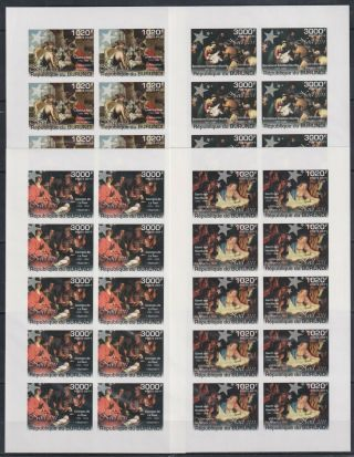 Y693.  10x Burundi - Mnh - Art - Paintings - Christmas - 2011 - Imperf