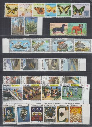 K298.  Lesotho - Mnh - Art - Painting - Disney - Nature - Animals