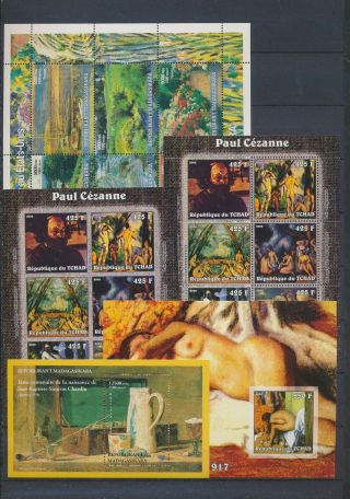 Ab4 - 2683 World Paintings Art Good Sheets Mnh