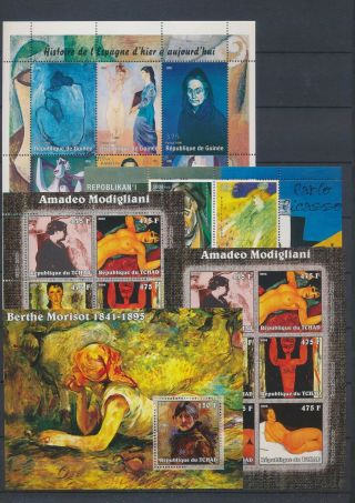 Ab4 - 2681 World Paintings Art Good Sheets Mnh