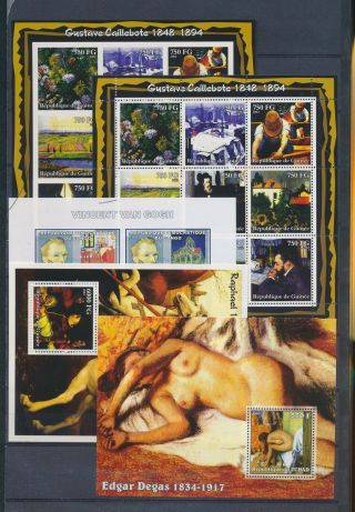 Ab4 - 2650 World Paintings Art Good Sheets Mnh