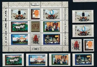 D279049 Paintings Art Mnh,  S/s Mongolia