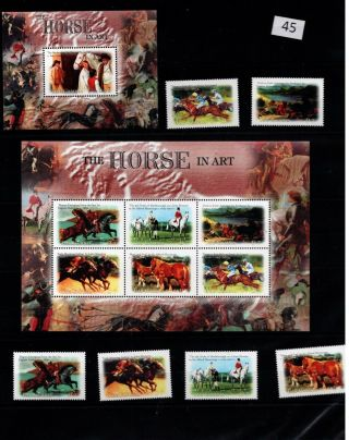 / Gambia - Mnh - Nature - Animals - Horses - Art - Painting