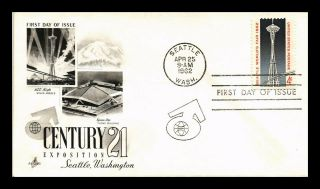 Dr Jim Stamps Us Century 21 Exposition Seattle Art Craft First Day Cover
