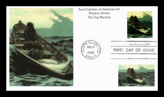 Dr Jim Stamps Us Four Centuries American Art Winslow Homer Fdc Cover