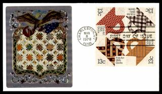 Mayfairstamps Us Fdc 1978 Folk Art Quilt Combo First Day Cover Wwb_37075
