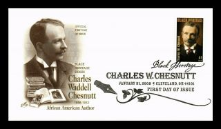 Dr Jim Stamps Us Charles Chesnutt Black Heritage First Day Cover Art Craft