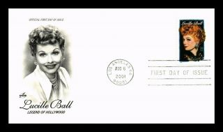 Dr Jim Stamps Us Lucille Ball Hollywood Legend Fdc Art Craft Cover Los Angeles