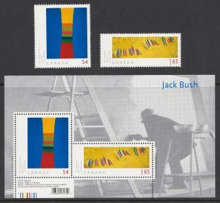 Canada 2009 Art Canada - Jack Bush - Mnh Stamps & Sheet - Cat £5 - (41)