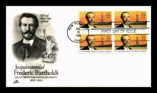 Dr Jim Stamps Us Frederic Bartholdi Liberty Sculptor Fdc Cover Block Art Craft