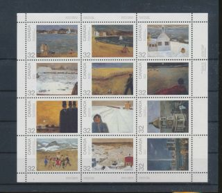 Lk56582 Canada Paintings Art Good Sheet Mnh