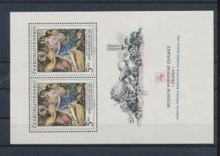 Lk56424 Czechoslovakia Paintings Art Good Sheet Mnh