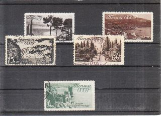 Russia 1938 Landscapes Part Set With The High Value Vf 23euro