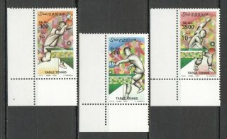 I604 2000 Somalia Sport Art Table Tennis Michel 16 Euro 1set Mnh