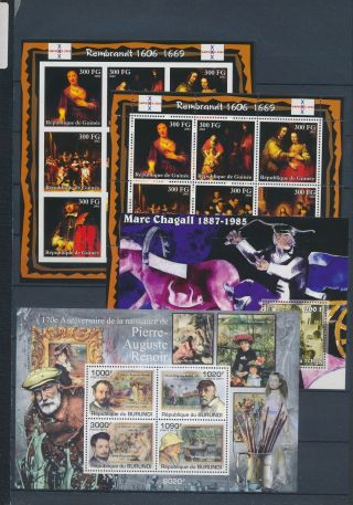 Ab2 - 2657 World Paintings Art Good Sheets Mnh