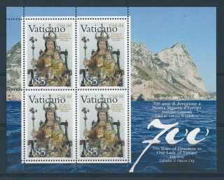 D269783 Our Lady Of Europe Religious Art S/s Mnh Vatican City