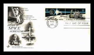 Dr Jim Stamps Us Decade Of Space Achievements Fdc Art Craft Combo Cover