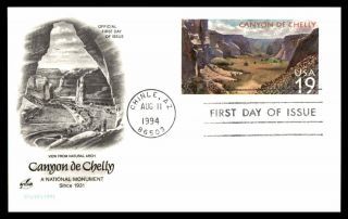 Mayfairstamps Us Fdc 1994 Canyon De Chelly Art Craft First Day Cover Wwb_62611