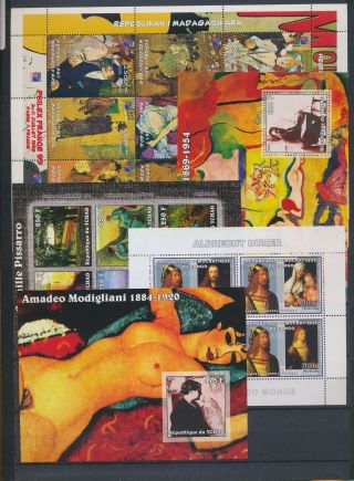 Ab1 - 2680 World Paintings Art Good Sheets Mnh