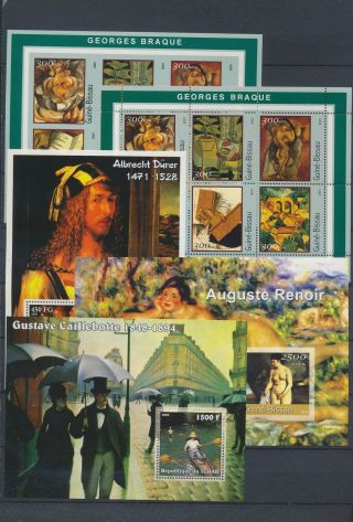 Ab1 - 2667 World Paintings Art Good Sheets Mnh