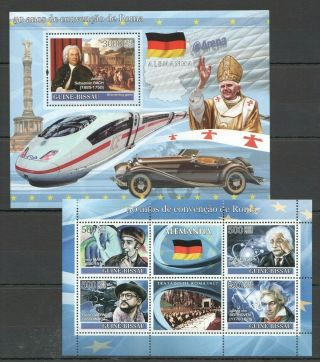 C1115 2008 Guinea - Bissau Art 50 Year Of The Rome Convention Germany 1bl,  1kb Mnh