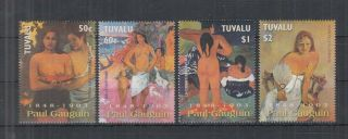 D282.  Tuvalu - Mnh - Art - Painting - Paul Gauguin