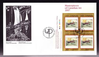 Canada Oversize Fdc Ul Pb Art Masterpieces: 1997 Sc 1635 Phillips - York Boat