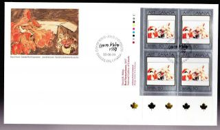 Canada Oversize Fdc Ll Pb Art Masterpieces: 1992 Sc 1419 Milne - Red Nasturtiums