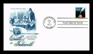 Dr Jim Stamps Us Thomas Jefferson Quill Inkwell 44c First Day Cover Art Craft