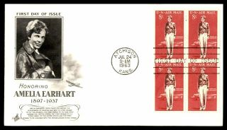 Mayfairstamps Us Fdc 1963 Amelia Earhart Block Art Craft Wwb_15213