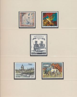 Xb74113 France Art Paintings Fine Lot Luxe Mnh