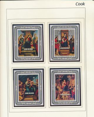 Xb71327 Cook Islands 1983 Raphael Art Paintings Sheets Mnh