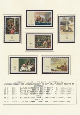 Xb71249 Germany Ddr 1982 Paintings Art Fine Lot Mnh