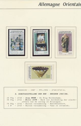 Xb71228 Germany Ddr 1987 Art Expo Paintings Fine Lot Mnh